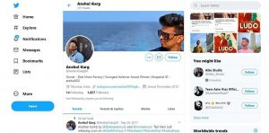Anshul Garg Twitter