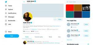 Nidhi Bisht Twitter Profile